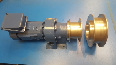Motor Gearbox unit with 100mm or 150mm Drive pulley